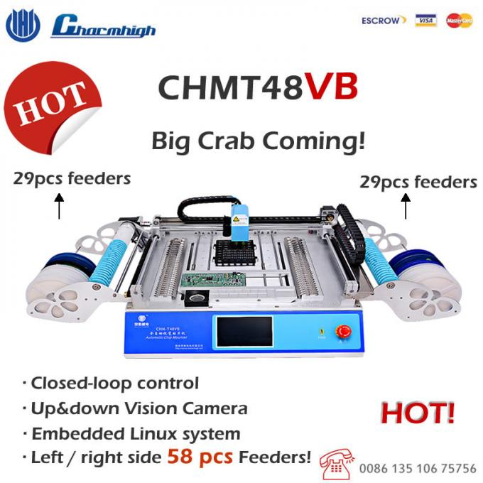 CHMT48VB 58pcs Feeders (All-in-one machine) Charmhigh Desktop Pick and Place Machine SMT