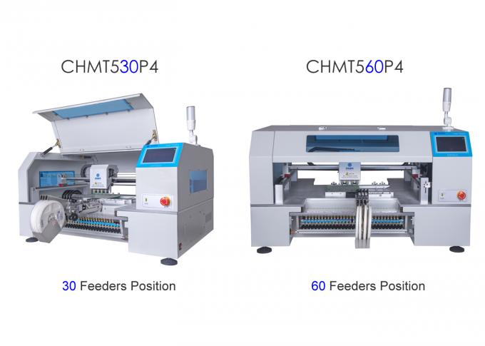 2 Types Charmhigh 4 Heads Feeder pick and place machine CHMT530P4 + CHMT560P4