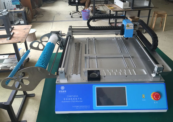 China Classic Model Charmhigh CHMT48VA Benchtop SMT LED Pick & Place Machine 2 vision cameras , PC in-build supplier