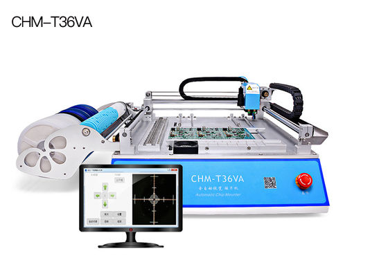 China CHM-T36VA dual vision cameras, PC control SMT Pick and Place Machine chmt36va supplier