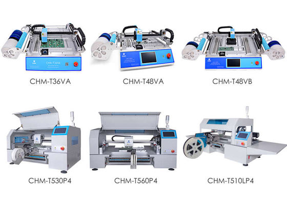 China High Accuracy 6 kinds Desktop SMT Pick And Place Machine Charmhigh SMT supplier