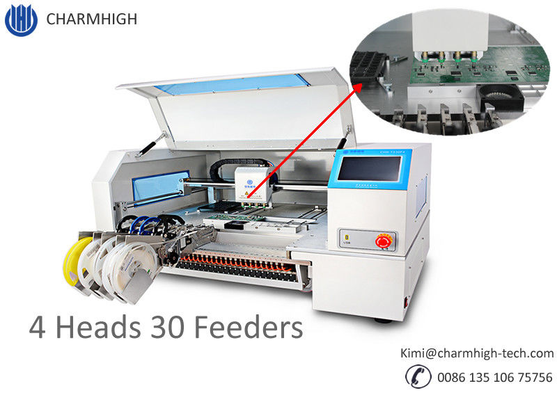 4 Heads 30 feeders with Yamaha SMT Desktop Pick and Place machine CHMT530P4