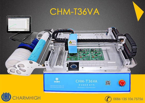 China Economic Model CHMT36VA SMT Pick And Place Machine + Top and Bottom Camera + Externel PC distributor