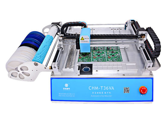 China 2 Heads 29 Feeders CHMT36VA SMD Pick And Place Machine + Two CCD Cameras + External PC, 110VAC/ 220VAC distributor